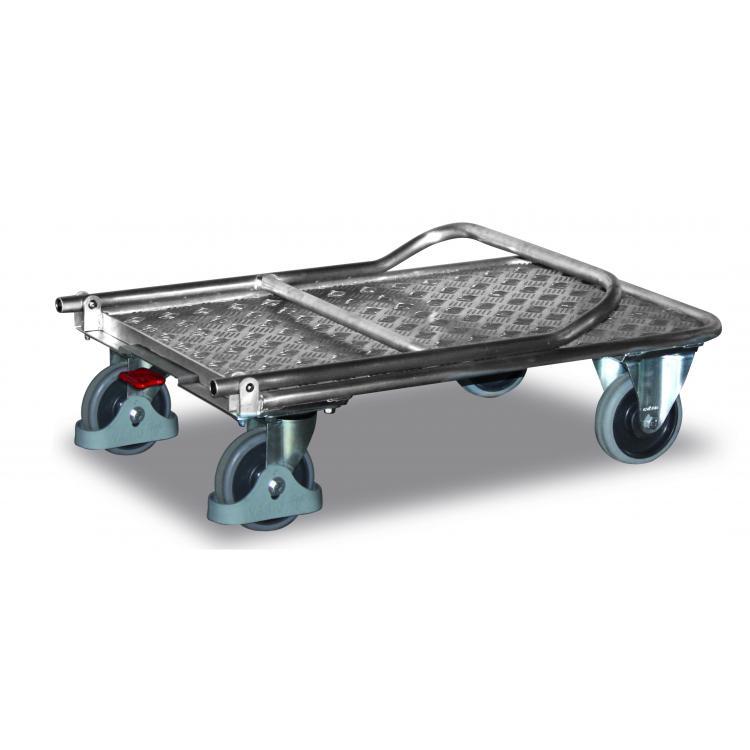 Wózek platformowy aluminiowy składany