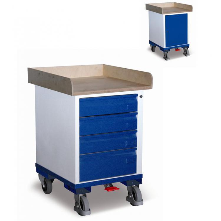 wózek narzędziowy, warsztatowy  z szafką