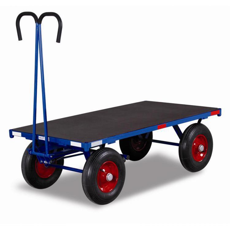 Wózek platforma z dyszlem