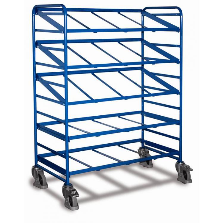 wózek do skrzyń 600x400  z półkami