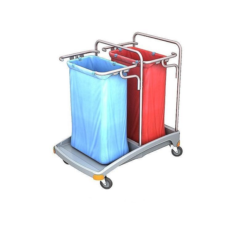 Wózek na odpady dwuworkowy 120l TSO-0005