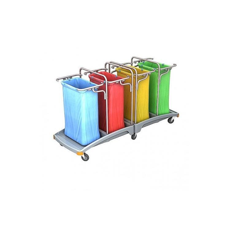 Wózek na odpady czteroworkowy 120l TSO-0013