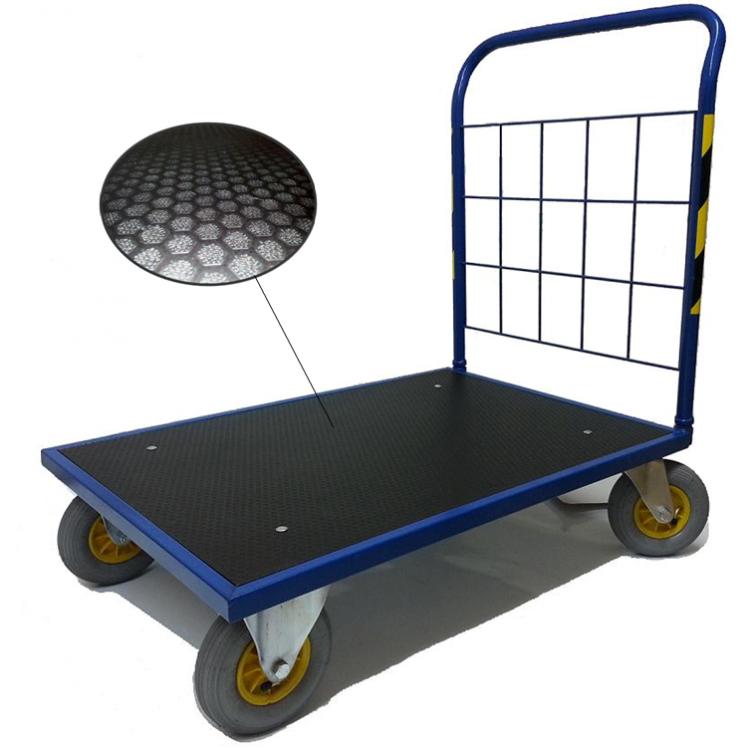 wózek platformowy romek, na kołach pneumatycznych