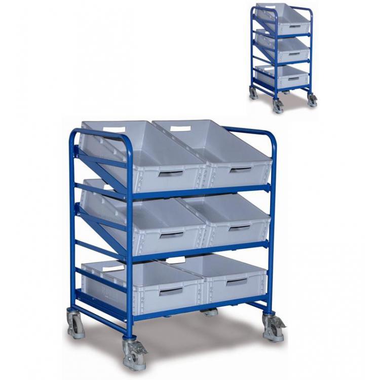 Zaawansowane Wózek 3 półkowy nachylny, + skrzynki EURO - LWP Logistics PY87