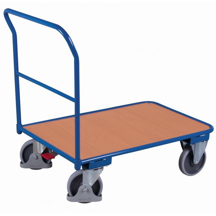wózek platformowy udźwig 400 kg, z hamulcami nożnymi
