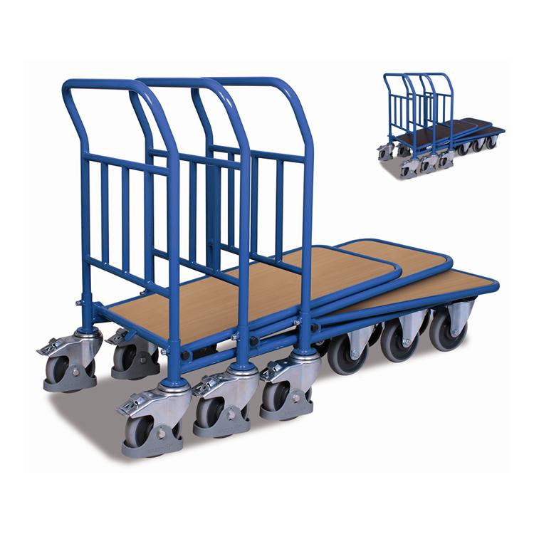 wózki platformowe wsuwane, wózki sklepowe