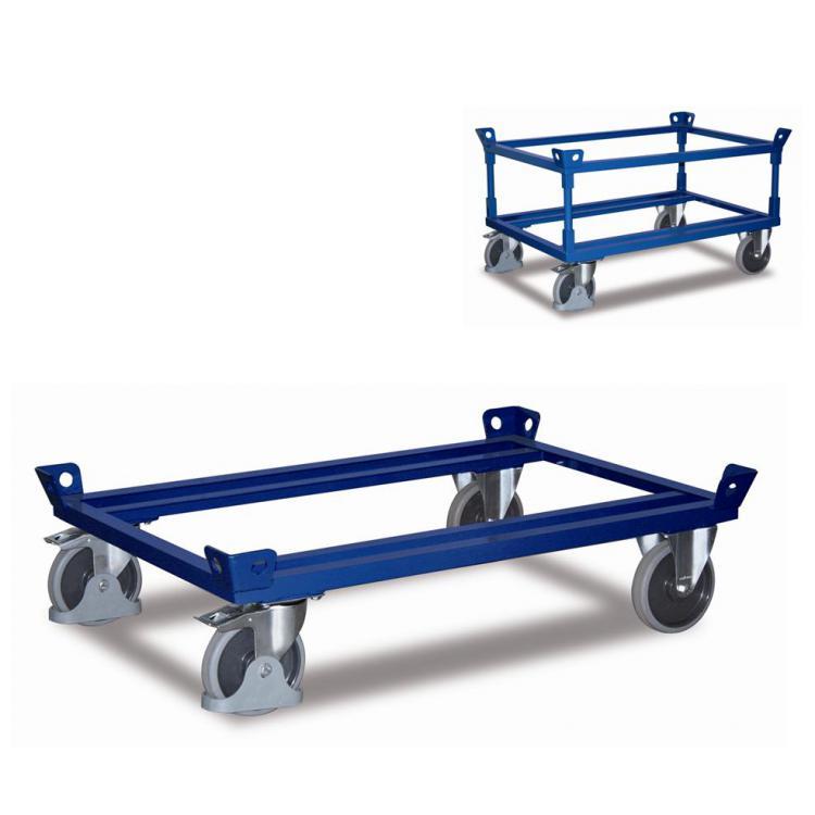 wózki ramowe pod paletę lub skrzynię