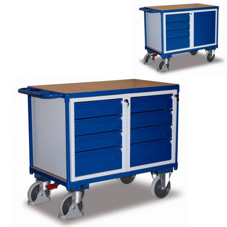 Wózek warsztatowy z szufladami i zamkiem