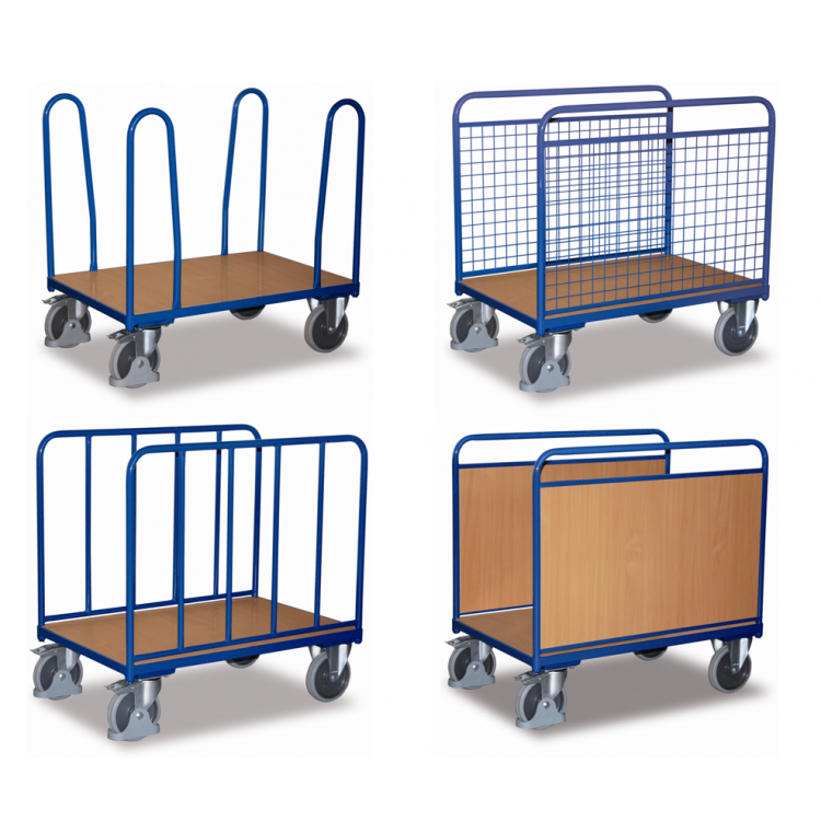 wózek platformowy magazynowy z burtami bocznymi