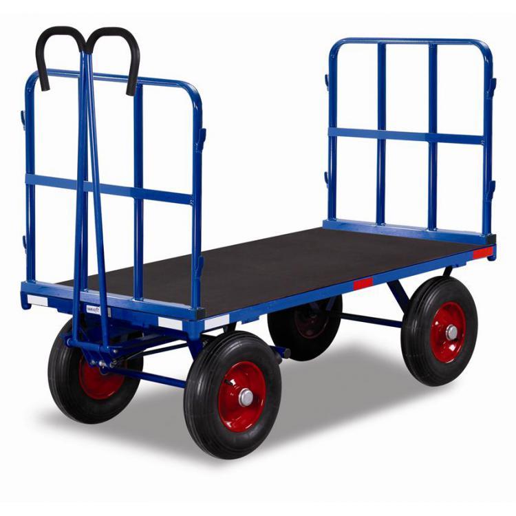 wózek platformowy z dyszlem i burtami