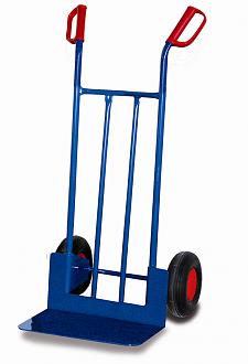 wózek dwukołowy z dużą platformą łopatą