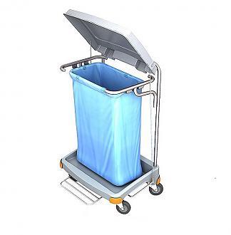 Wózek na odpady z pedłaem podnoszenia pokrywy TSOP-0002