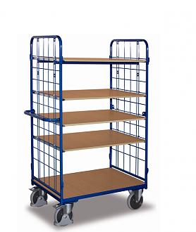 wózek z regulowanymi półkami 5 półek