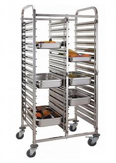 wózek gastronomiczny do pojemników GN podwójny