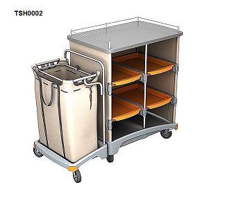 Wózek hotelowy z półkami i workiem na bieliznę TSH-0002