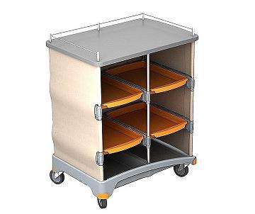 Wózek hotelowy z tworzywa z półkami TSH0001