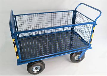 wózek siatkowy na kołach pneumatycznych