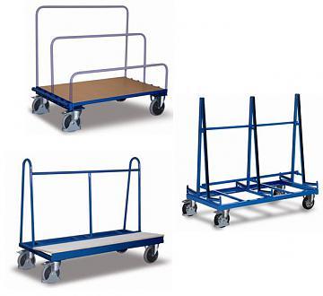 wózki do transportu płyt i szyb