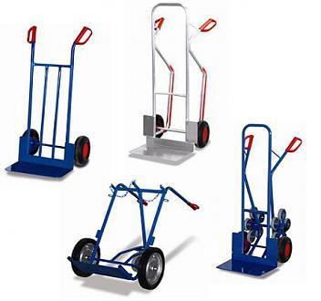 wózki dwukołowe, taczkowe i schodowe