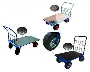 Wózek platformowy Stach, udźwig 400 kg