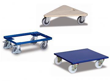 wózki meblowe i ramowe, wózki platformowe do palet