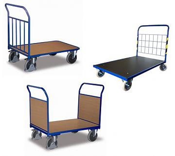 wózki platformowe na kołach pełnych