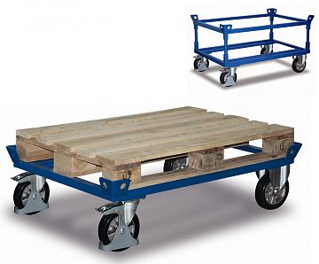 Wózek ramowy pod paletę, skrzynię lub gitterboxa, udźwig 1200 kg